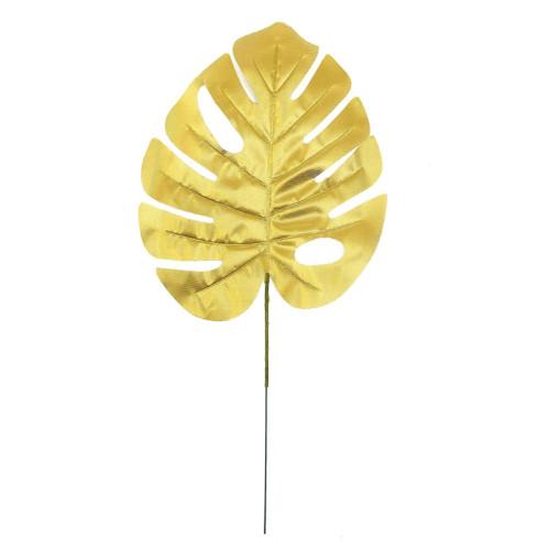 Artificial Monstera Leaf - Gold (39.5cm)