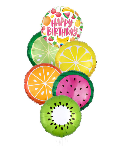 Birthday Fruit Treats balloon bouquet