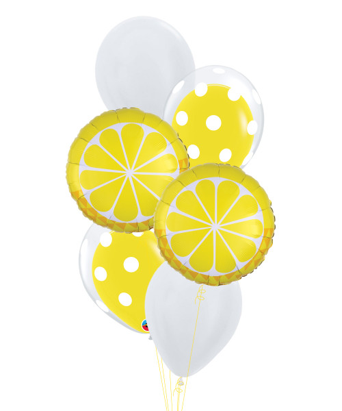 Tropical Lemon Pop Balloons Bouquet
