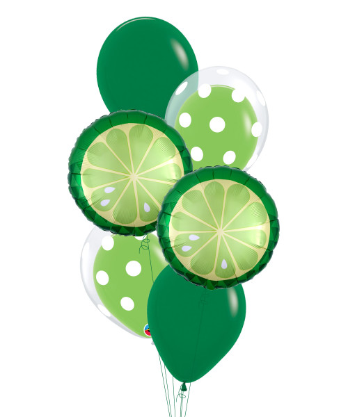 Tropical Lime Pop Balloons Bouquet