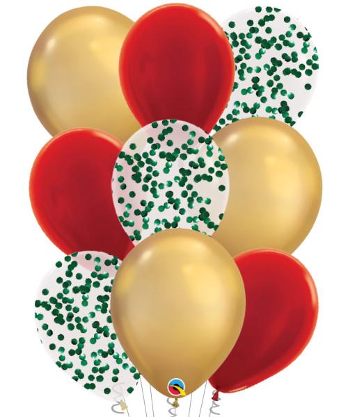[Merry Christmas] Christmas Balloons Cluster - Jolly Christmas