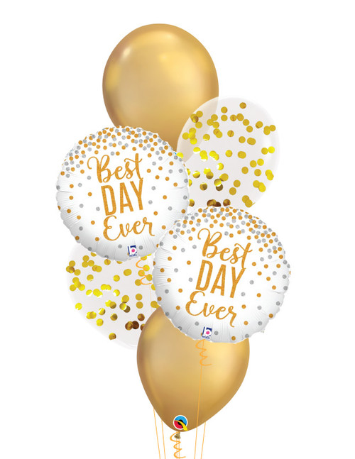 Glittering Best Day Ever Balloons Bouquet