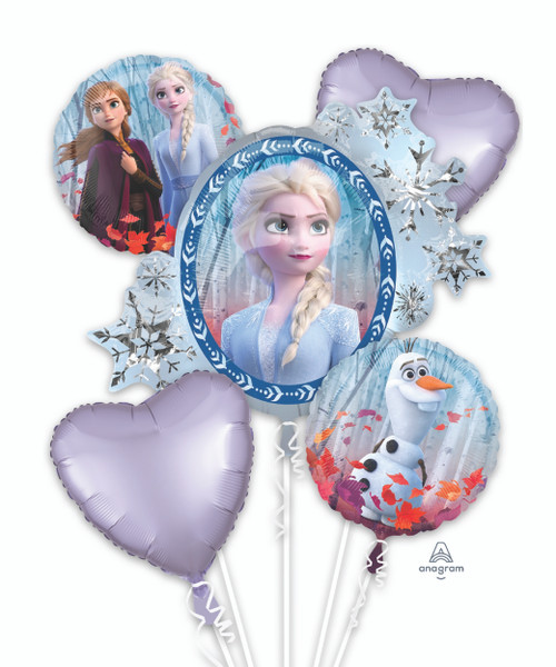 Frozen 2 (Elsa/Anna/Olaf) Balloons Bouquet
