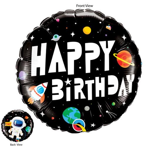 Birthday Astronaut Foil Balloon