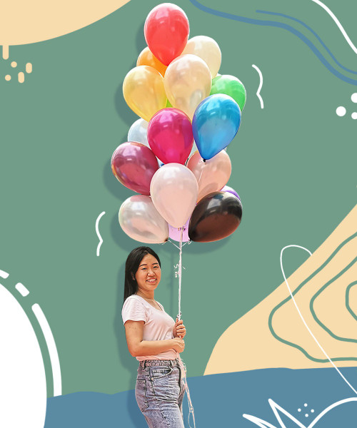"[SGD1.10 DEAL] 12"" Standard Metallic Round Latex Balloons (21 Colors)"