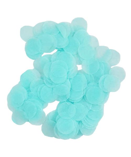 30gram Mini Paper Round Confettis (1cm) - Baby Blue