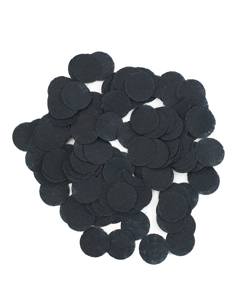 30gram Mini Paper Round Confettis (1cm) - Black