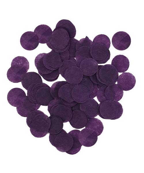 30gram Mini Paper Round Confettis (1cm) - Violet