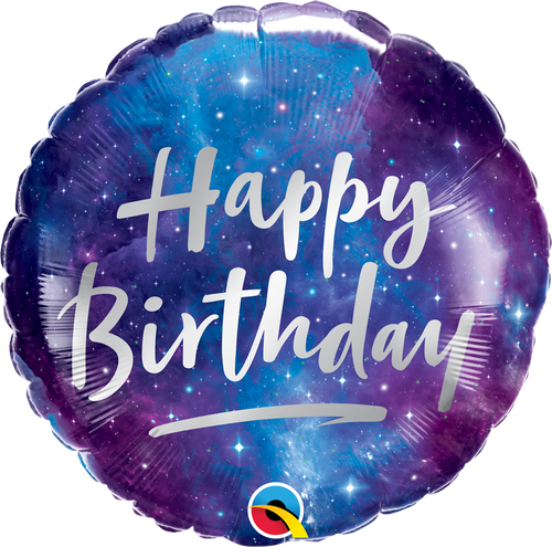 [Astronaut/Space] Happy Birthday Galaxy Foil Balloon (18inch)
