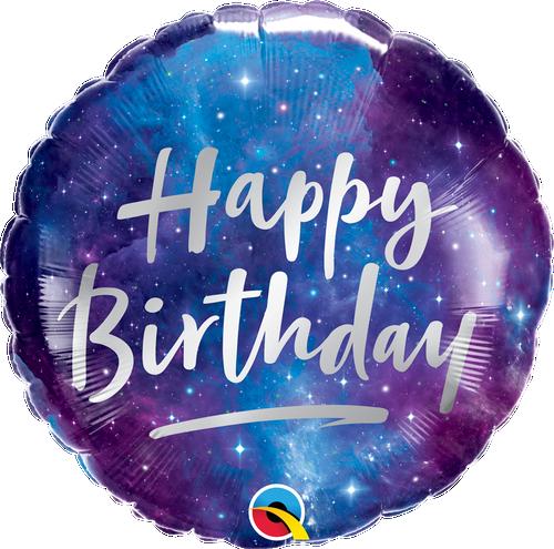 [Astronaut/Space] Happy Birthday Galaxy Foil Balloon (18inch)