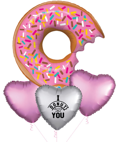 [My Love, My Valentine] I DONUT what I'd do without you Balloons Bouquet