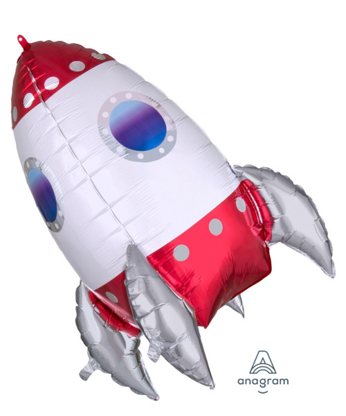 [Astronaut/Space] Outer Space Rocket Ship Foil Balloon (29inch)