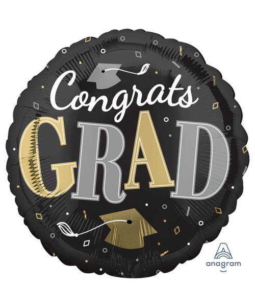 [Graduation] Congrats Grad Well Done Foil Balloon (17inch)