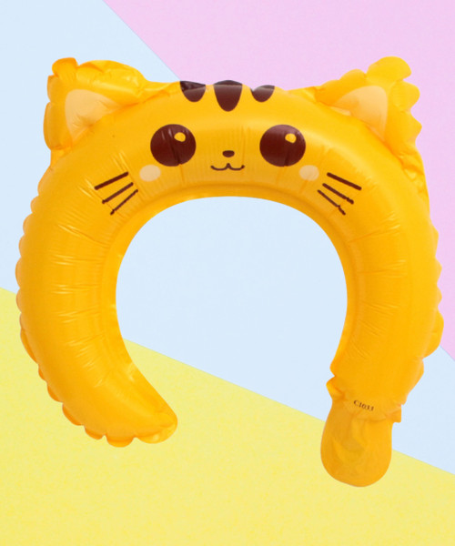 Trendy Animal Balloon Headband - Meow Cat