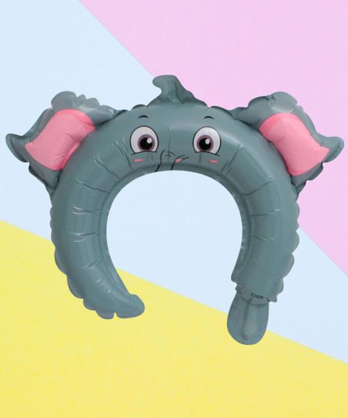Trendy Animal Balloon Headband - Eddie Elephant