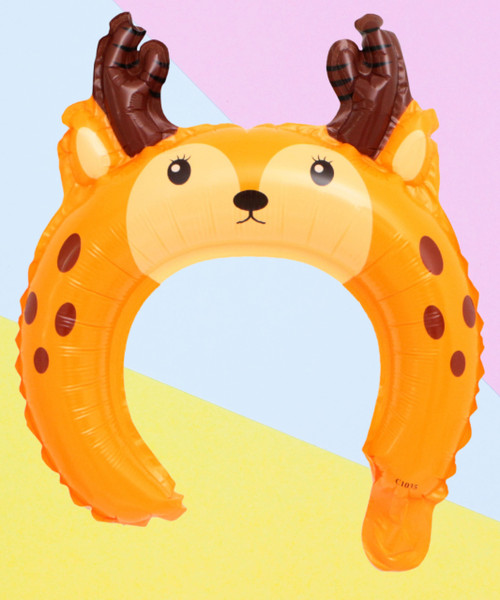 Trendy Animal Balloon Headband - Doe A Deer