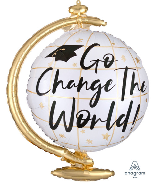 [Graduation] Go Change the World Globe Foil Balloon (23inch)