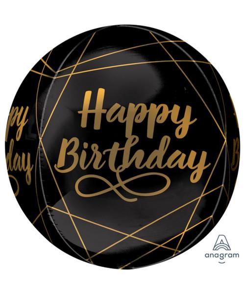 "16""/40cm Elegant Birthday Orbz Sphere Shaped Balloon"