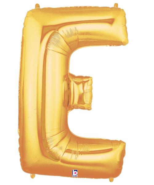 """40"""" Giant Alphabet Foil Balloon (Gold) - Letter 'E'"""