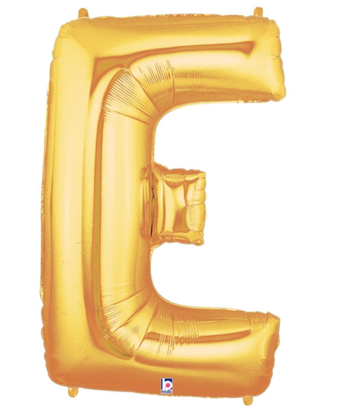"40"" Giant Alphabet Foil Balloon (Gold) - Letter 'E'"