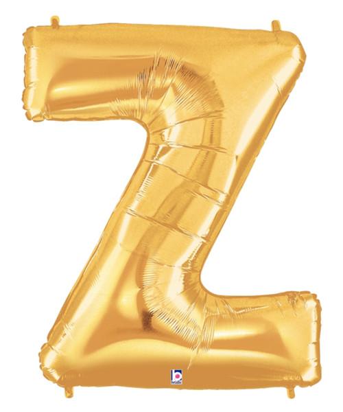 """40"""" Giant Alphabet Foil Balloon (Gold) - Letter 'Z'"""