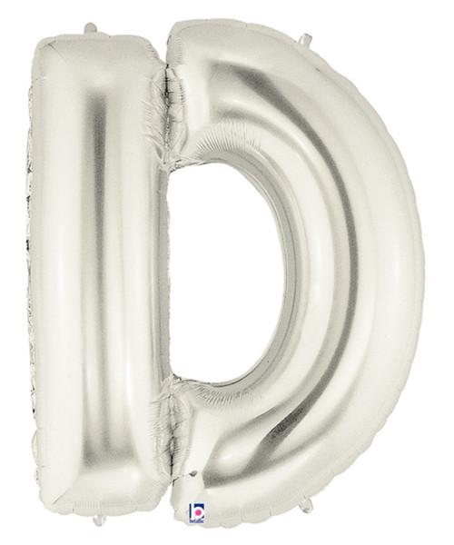 "40"" Giant Alphabet Foil Balloon (Silver) - Letter 'D'"