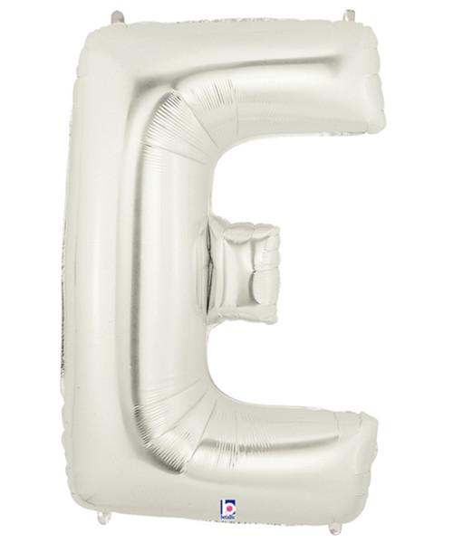 "40"" Giant Alphabet Foil Balloon (Silver) - Letter 'E'"