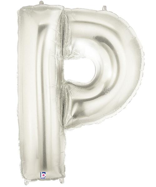 "40"" Giant Alphabet Foil Balloon (Silver) - Letter 'P'"