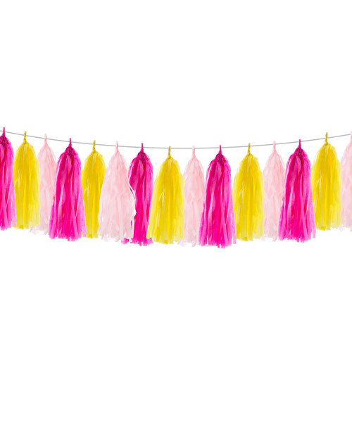 (15 Tassels Pack) Tassels Garland DIY Kit (15 Tassels) - Candy Pop