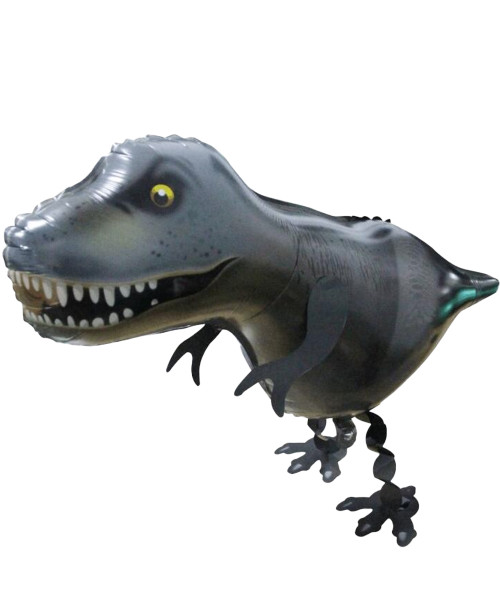 Walking Pet Balloon - T-Rex (Black)