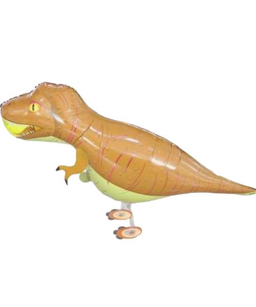 Walking Pet Balloon - T-Rex (Brown)
