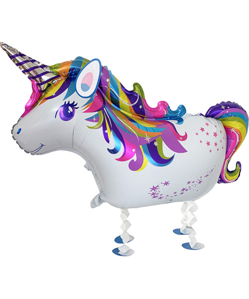 Walking Pet Balloon - Whimsical Unicorn