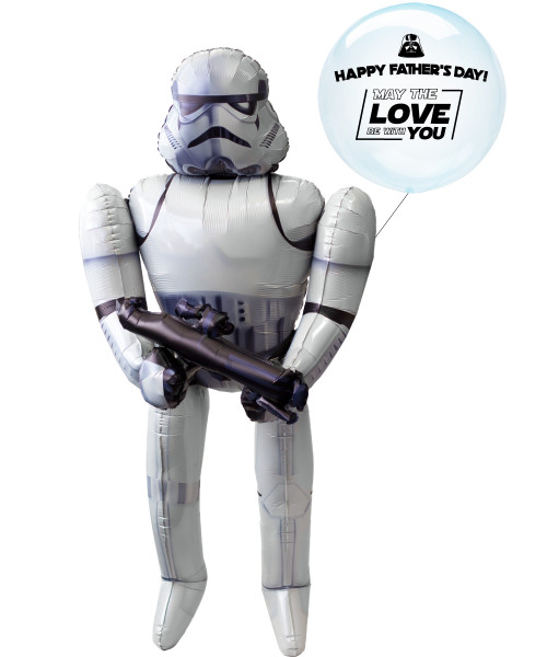 [To My SUPERDAD] Happy Father's Day! May the Love be with you Crystal Clearz Jumbo Stormtrooper Airwalker Balloon Set