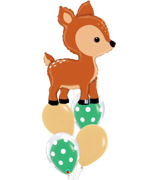 [Animal] Woodland Deer Bubble Fun Balloons Bouquet
