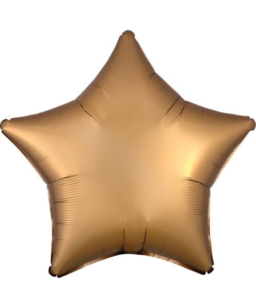 "19"" Star Foil Balloon - Satin Luxe Gold Sateen (A35804)"