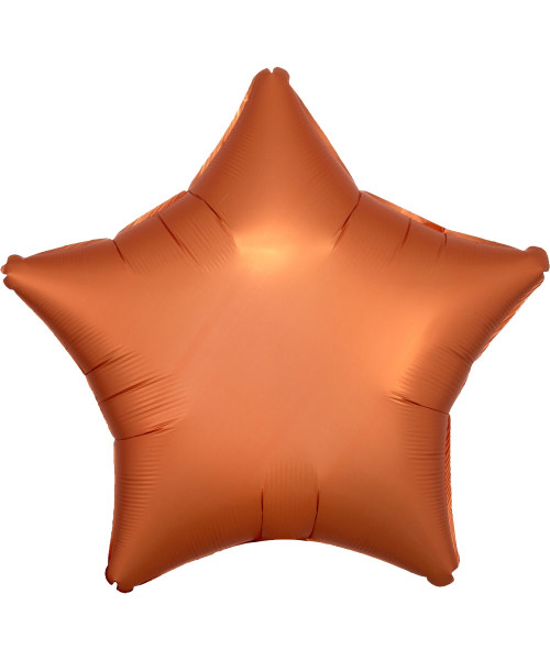 "19"" Star Foil Balloon - Satin Luxe Amber"