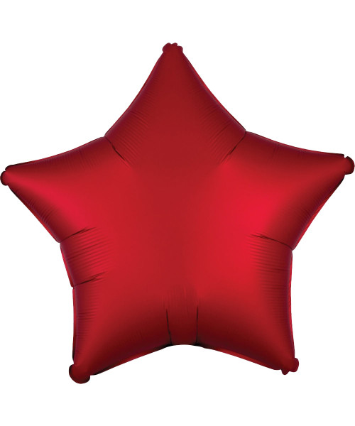 "19"" Star Foil Balloon - Satin Luxe Sangria Red"