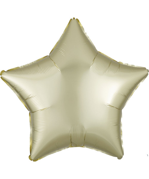 "19"" Star Foil Balloon - Satin Luxe Pastel Yellow (A39903)"