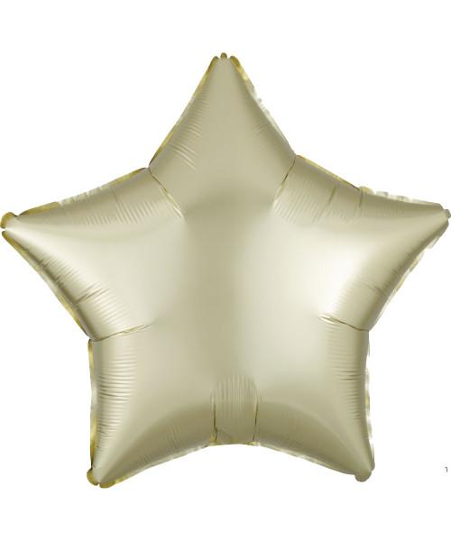 "19"" Star Foil Balloon - Satin Luxe Pastel Yellow (A39903)"