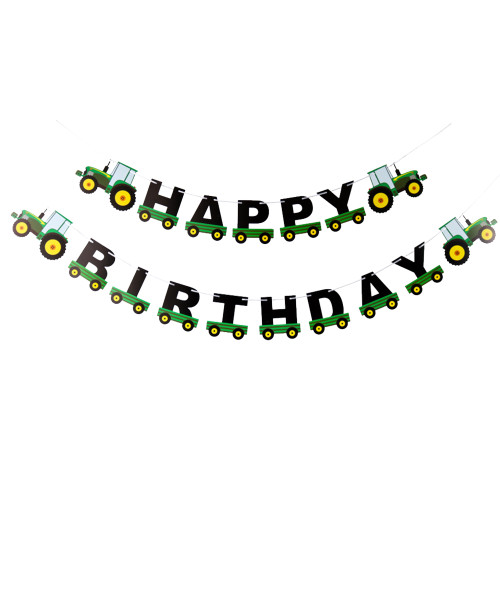Happy Birthday Letter Bunting (3meter) - Tractor Themed
