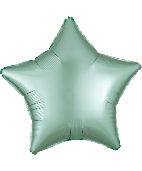 "19"" Star Foil Balloon - Satin Luxe Mint Green"
