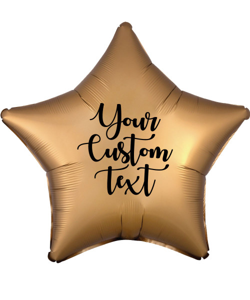 "19"" Personalised Star Foil Balloon - Satin Luxe Gold Sateen"