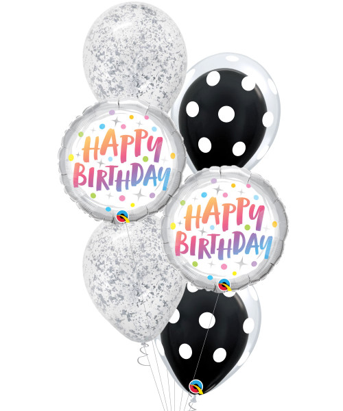 [Dessert] Cookies & Cream Happy Birthday Balloons Bouquet