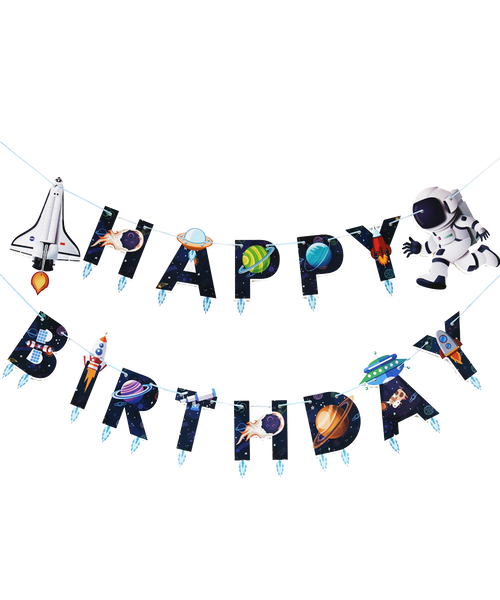 Happy Birthday Letter Bunting (3meter) - Outer Space Themed