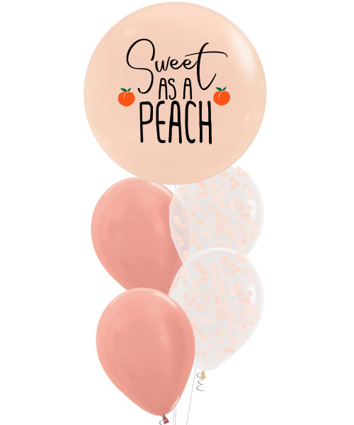 [Marvelous Sweetness] Sweet As A Peach, Peach Burst Balloons Bouquet
