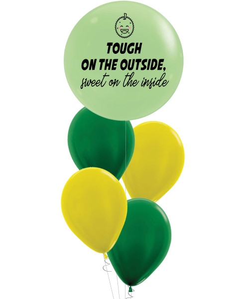 [Marvelous Sweetness] Tough On The Outside, Sweet On The Inside Balloons Bouquet