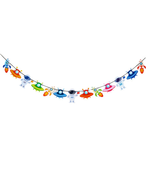 [Astronaut/Space] Paper Bunting (4 Meter) - Adorable Space Themed
