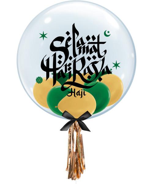 "[Hari Raya Haji 2021] Selamat Hari Raya Haji Classic 24"" Crystal Clear Balloon"