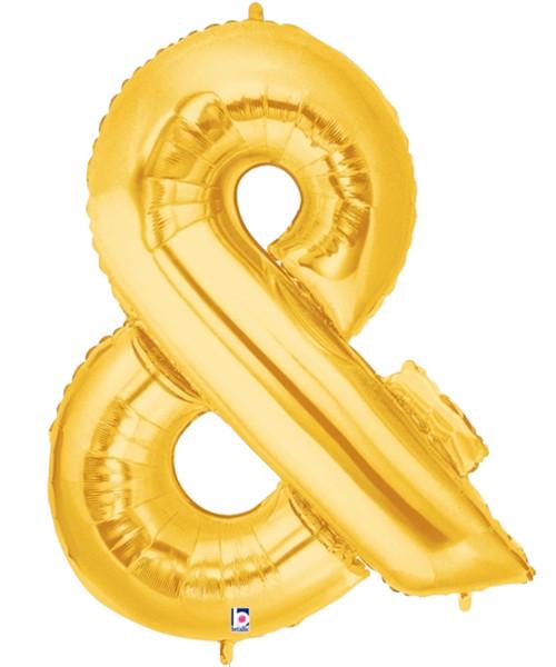 "40"" Giant Symbol Foil Balloon (Gold) - Ampersand '&'"