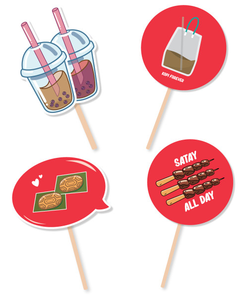 [National Day 2020] Photobooth Props (Made-To-Order Kapaline Board) - Singaporean's Favorites
